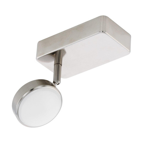 Eglo Lighting Corropoli-C Satin Nickel with White Shade Spotlight