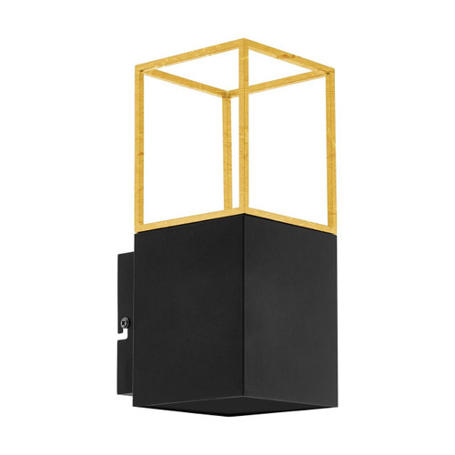 Eglo Lighting Montebaldo Black and Gold Wall Light