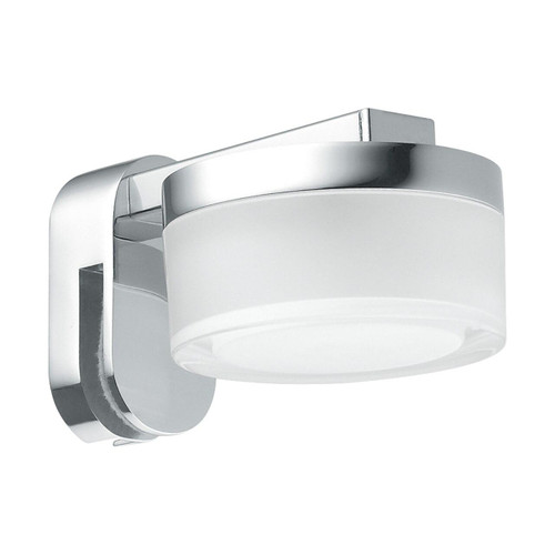 Eglo Lighting Romendo Chrome with Clear Satined Shade Wall Light