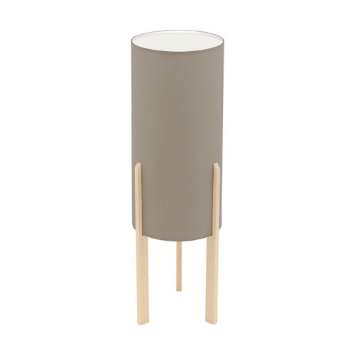 Eglo Lighting Campodino Maple with Taupe Fabric Shade Table Lamp
