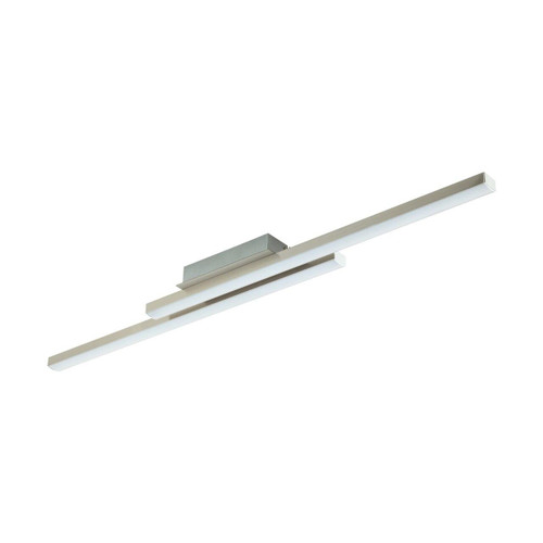 Eglo Lighting Fraioli-C Satin Nickel with White Plastic Shade Ceiling Light