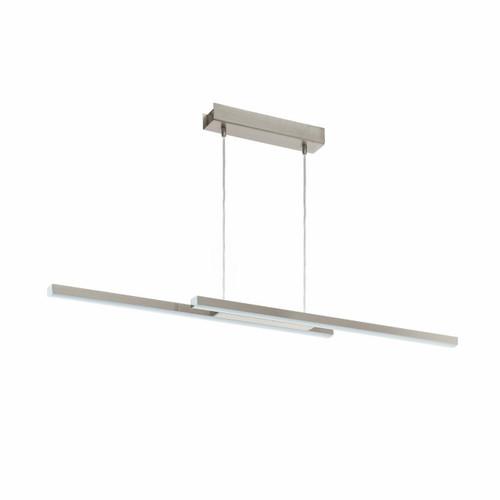 Eglo Lighting Fraioli-C 2 Light Satin Nickel with White Plastic Shade Bar Pendant Light