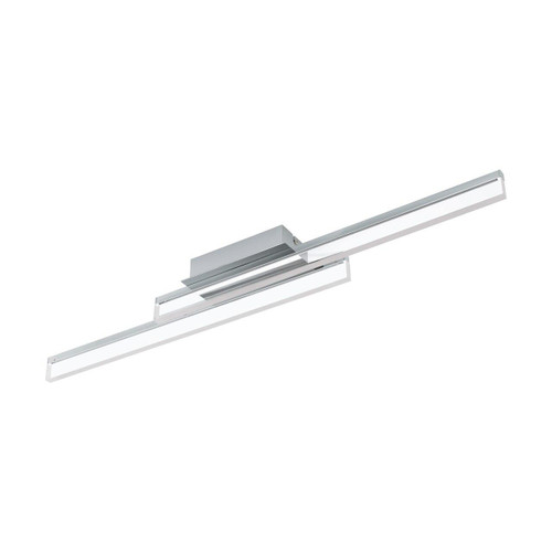 Eglo Lighting Palmital 2 Light Chrome with Clear Plastic Wall and Ceiling Light