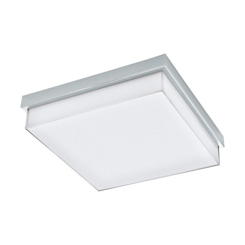 Eglo Lighting Isletas Chrome with White Crystal Effect Glass Wall and Ceiling Light