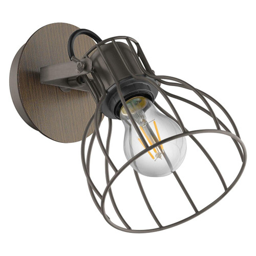 Eglo Lighting Sambatello Brown and Silver Spotlight