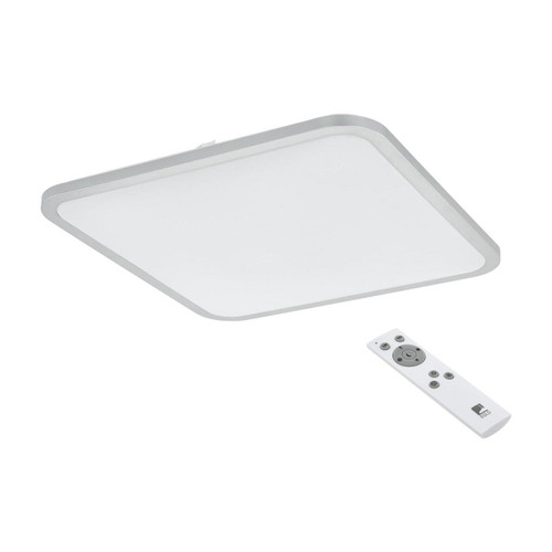 Eglo Lighting Cogolet 490 White and Silver with White Shade LED Ceiling Light