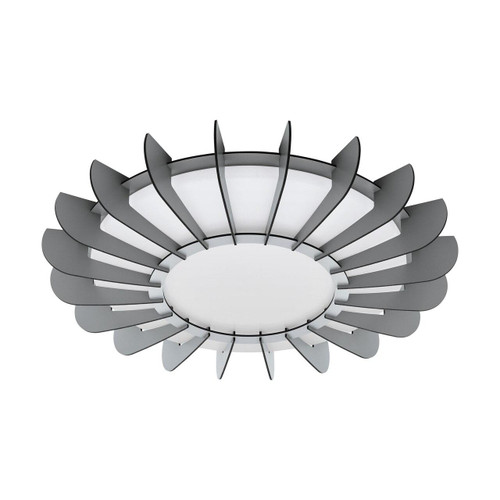 Eglo Lighting Arapiled White with Grey Shade LED Wall and Ceiling Light