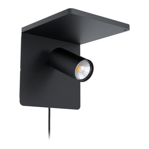 Eglo Lighting Ciglie Black with Qi Charger Wall Light