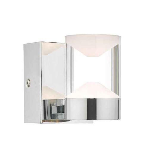 Susa Polished Chrome and Acrylic LED Bathroom IP44 Wall Light