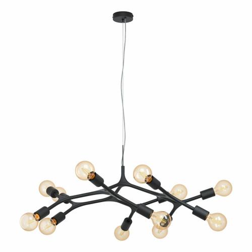Eglo Lighting Bocadella 12 Light Black Cluster Pendant Light