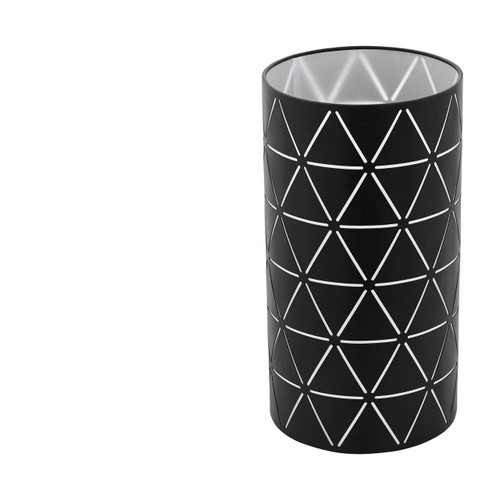 Eglo Lighting Ramon Black with Black and White Film Shade Table Lamp