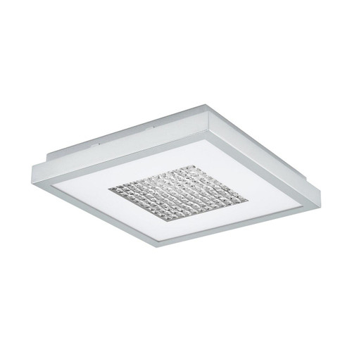 Eglo Lighting Pescate Chrome with White Crystal Glass Ceiling Light