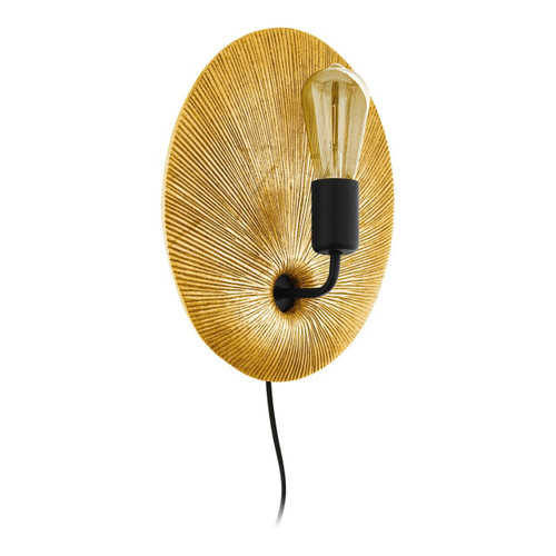Eglo Lighting Gascueria Gold and Black Wall Light