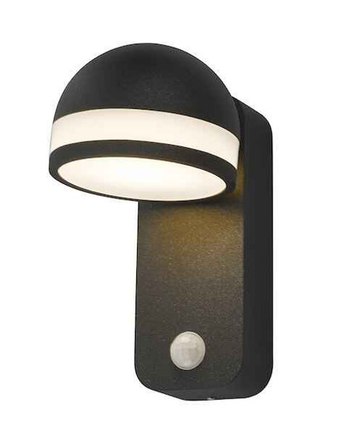 Tien 1 Light Adjustable Anthracite Sensor IP65 LED Wall Light