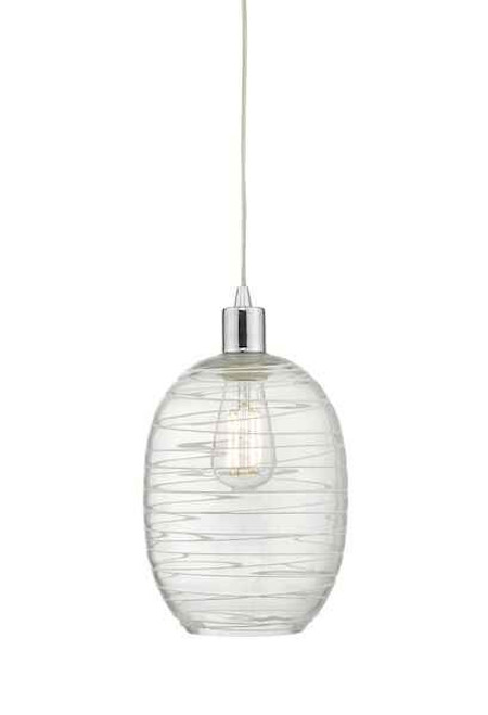 Tizi Glass & White Detail Easy Fit Pendant Light