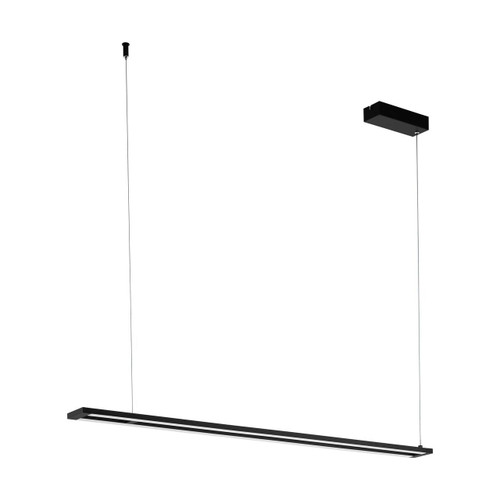 Eglo Lighting Amontillado 2 Light Black and White Bar Pendant Light