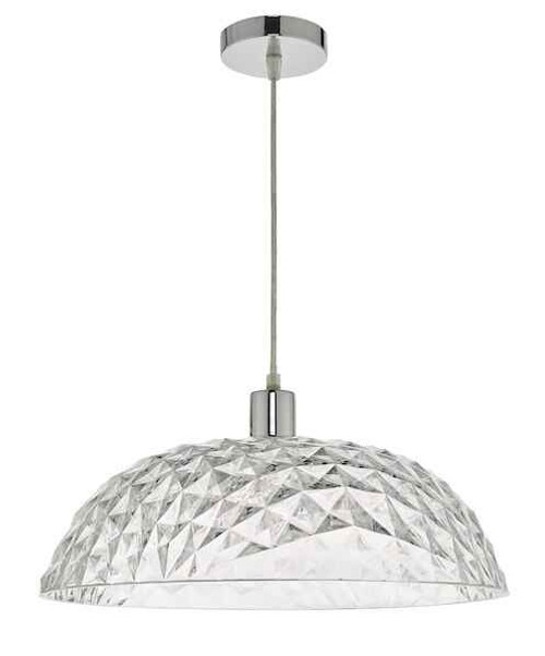 Tobin Clear Large Easy Fit Pendant Light