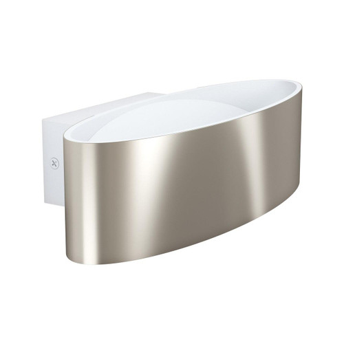 Eglo Lighting Maccacari 270 Satin Nickel and White with Transparent Shade Wall Light