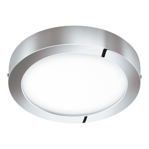 Eglo Lighting Fueva-C 300 Chrome with White Shade RGB LED Ceiling Light