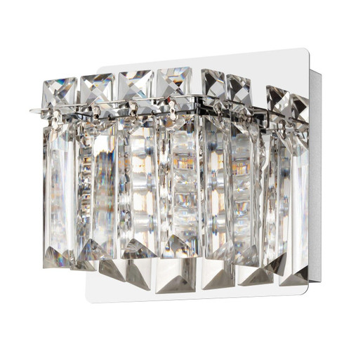 Eglo Lighting Fuertescusa Chrome with Clear Crystal Shade Wall Light