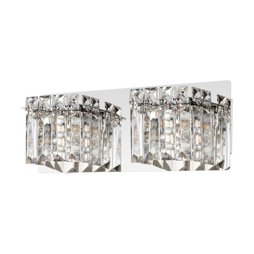 Eglo Lighting Fuertescusa 2 Light Chrome with Clear Crystal Shade Wall Light