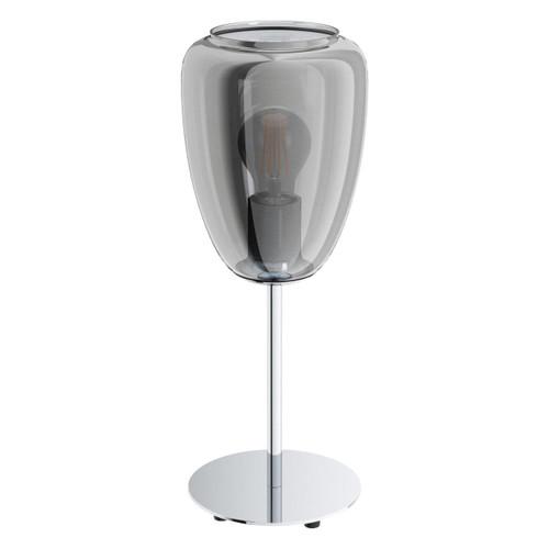Eglo Lighting Alobrase Chrome with Black Vaporized Glass Shade Table Lamp
