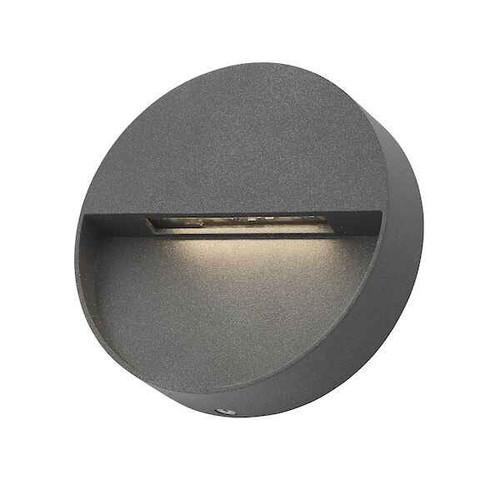 Ugo 1 Light Anthracite Round Eyelid IP65 LED Wall Light