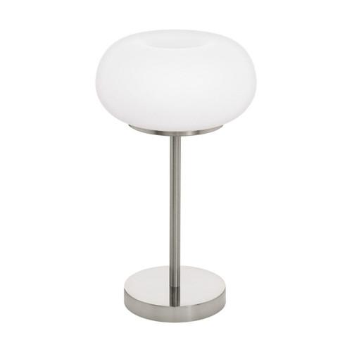 Eglo Lighting Optica-C Satin Nickel with Opal Matt Glass Shade RGB LED Table Lamp