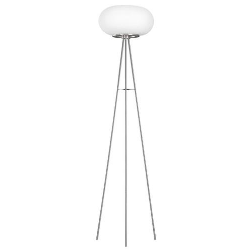 Eglo Lighting Optica-C Satin Nickel with Opal Matt Glass Shade RGB LED Floor Lamp