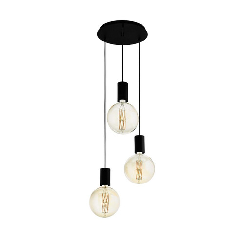 Eglo Lighting Pozueta 3 Light Black Cluster Pendant Light