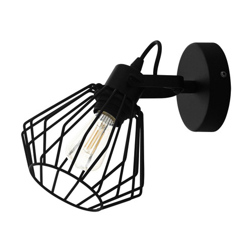 Eglo Lighting Tabillano Black with Caged Shade Wall and Ceiling Light