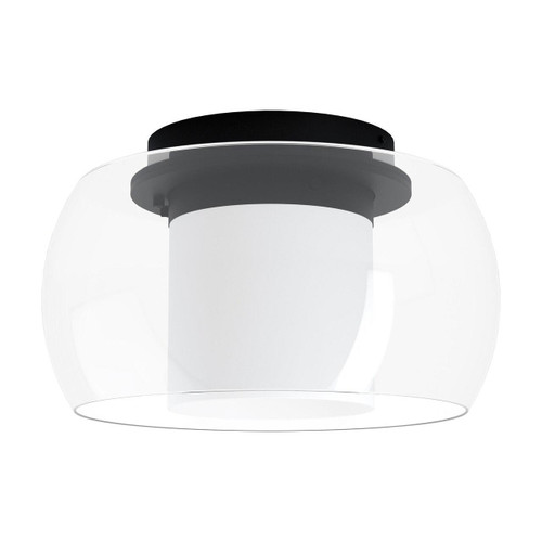 Eglo Lighting Briaglia-C Black with Clear White Glass Shade RGB LED Ceiling Light