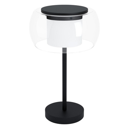 Eglo Lighting Briaglia-C Black with Clear White Glass Shade RGB LED Table Lamp