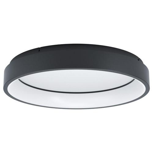 Eglo Lighting Marghera-C Black with White Shade RGB LED Ceiling Light