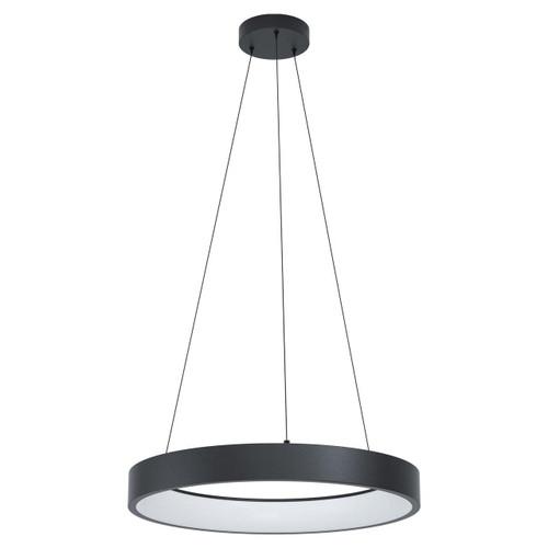 Eglo Lighting Marghera-C Black with White Shade RGB LED Pendant Light