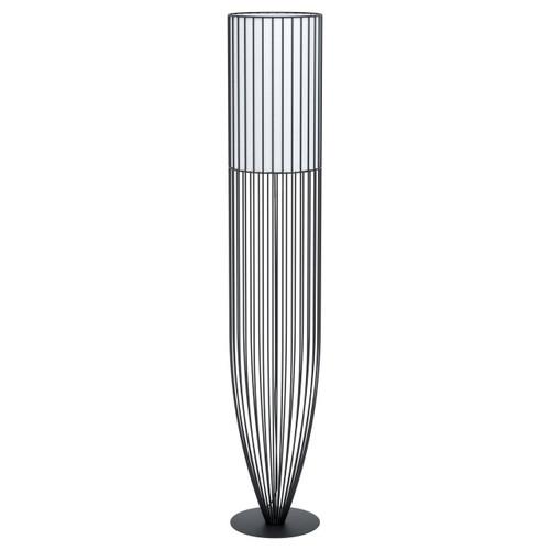 Eglo Lighting Nosino Black with White Fabric Shade Floor Lamp