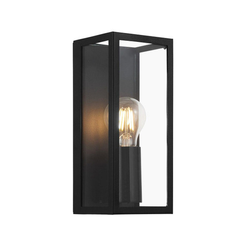 Eglo Lighting Amezola Black with Clear Glass Wall Light