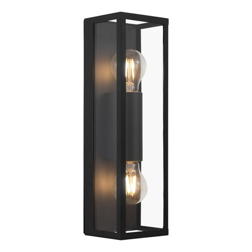 Eglo Lighting Amezola 2 Light Black with Clear Glass Wall Light