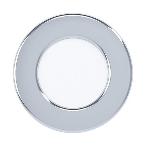 Eglo Lighting Fueva 5 86 3000k Chrome with White Shade Recessed Downlight