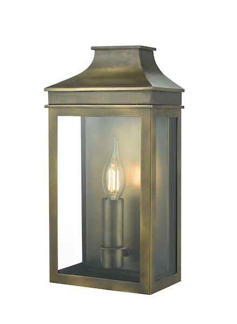 Vapour Weathered Brass Coach Lantern IP44 Wall Light