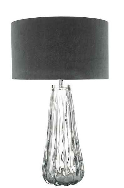 Vezzano Smoked Glass Table Lamp Base Only