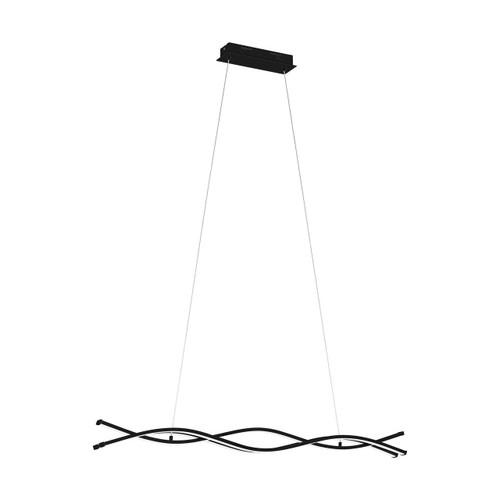 Eglo Lighting Lasana Black with White Shade Pendant Light