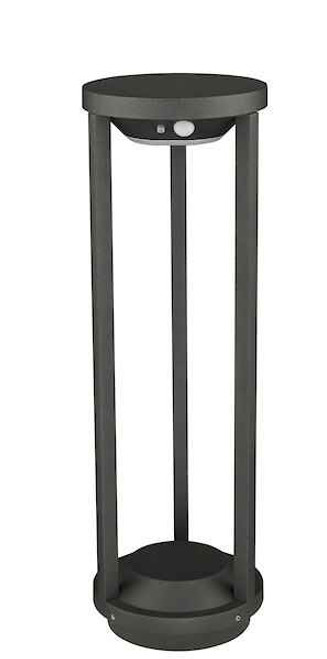 Vox Post Anthracite Solar Powered PIR Sensor IP65 LED Bollard