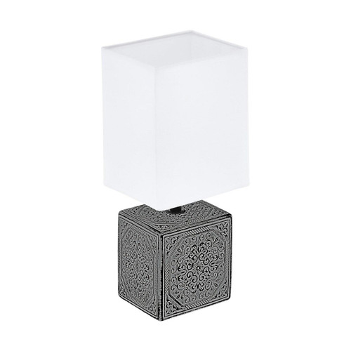 Eglo Lighting Mataro 1 Black with White Fabric Shade Table Lamp