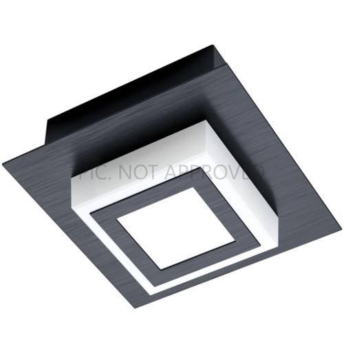 Eglo Lighting Masiano 1 Black with Satined Shade Wall and Ceiling Light
