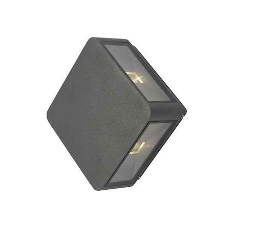 Weiss 4 Light Square Anthricite IP65 LED Wall Light