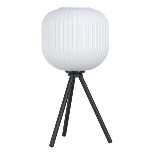 Eglo Lighting Mantunalle Black with White Glass Shade Table Lamp
