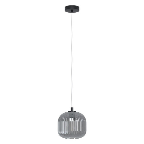 Eglo Lighting Mantunalle Black with Black Transparent Glass Shade Pendant Light