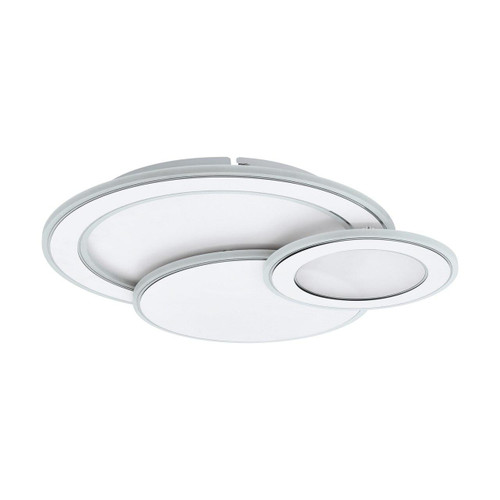 Eglo Lighting Mentalurgia 500 3 Light White and Chrome with White Plastic Shade Wall and Ceiling Light
