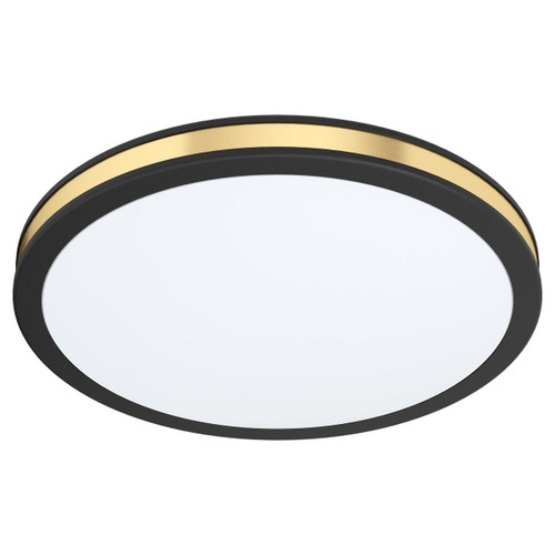 Eglo Lighting Pescaito 280 Black with White and Gold Shade Ceiling Light